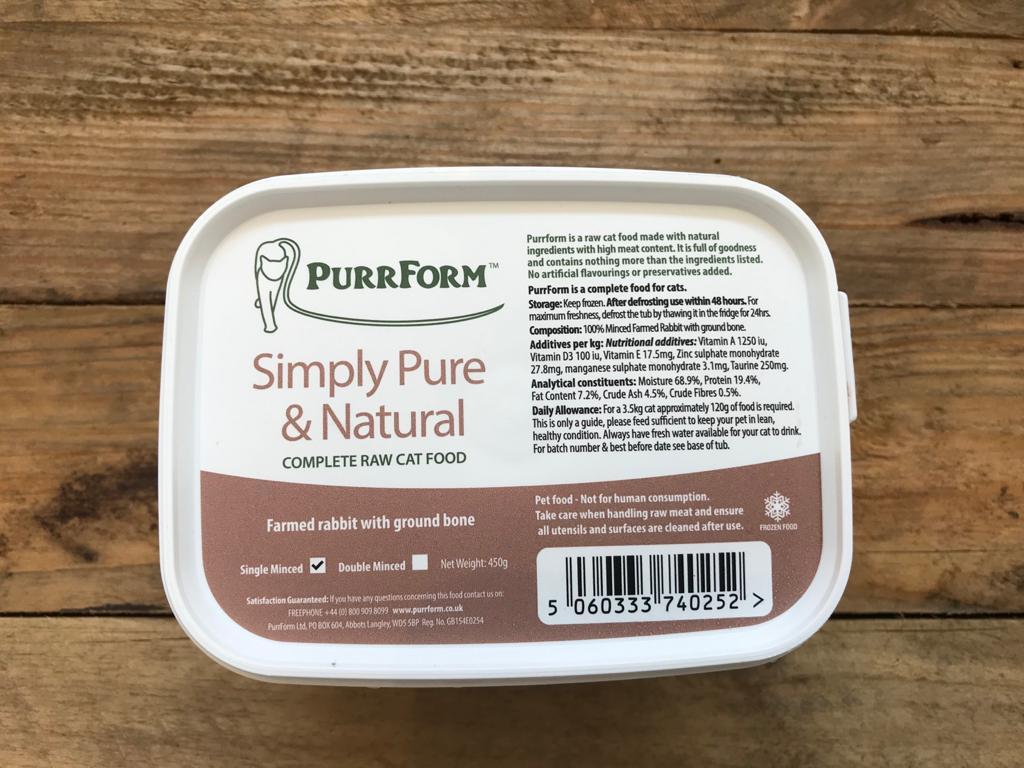 PurrForm Farmed Rabbit – 450g