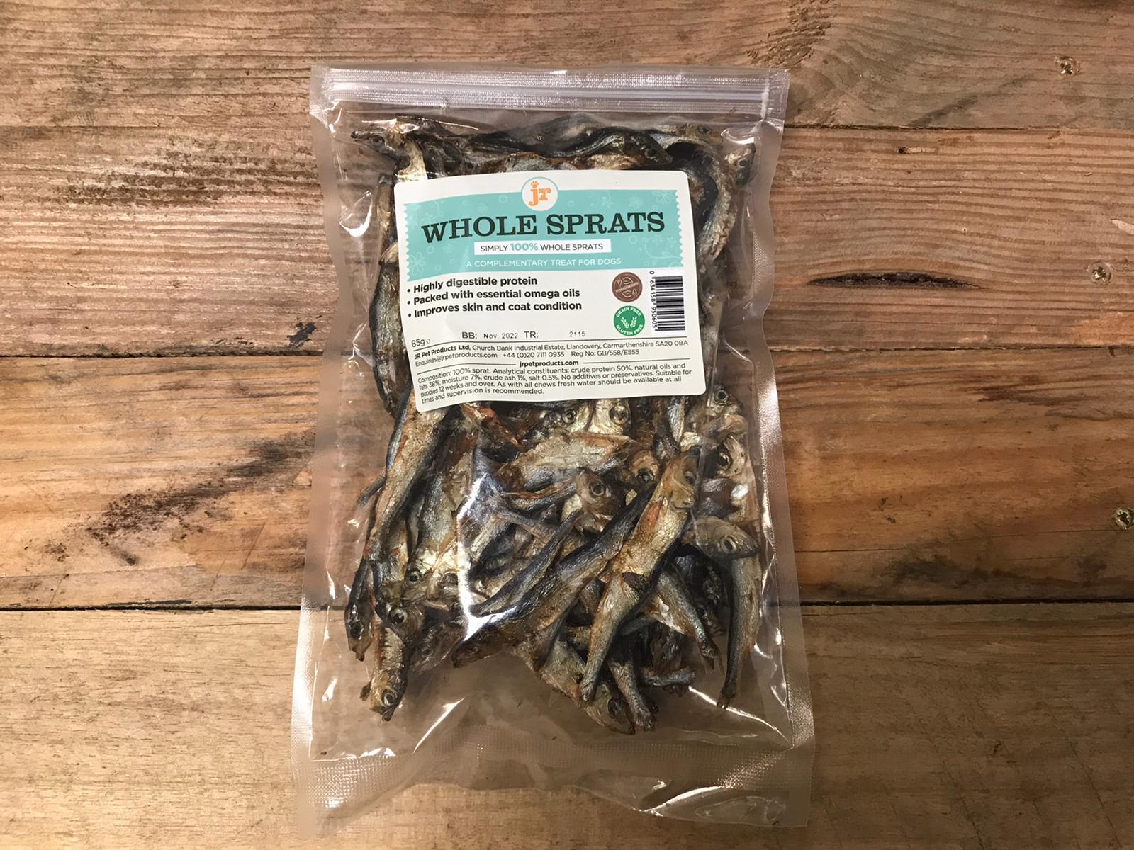 JR Whole Dried Sprats – 85g