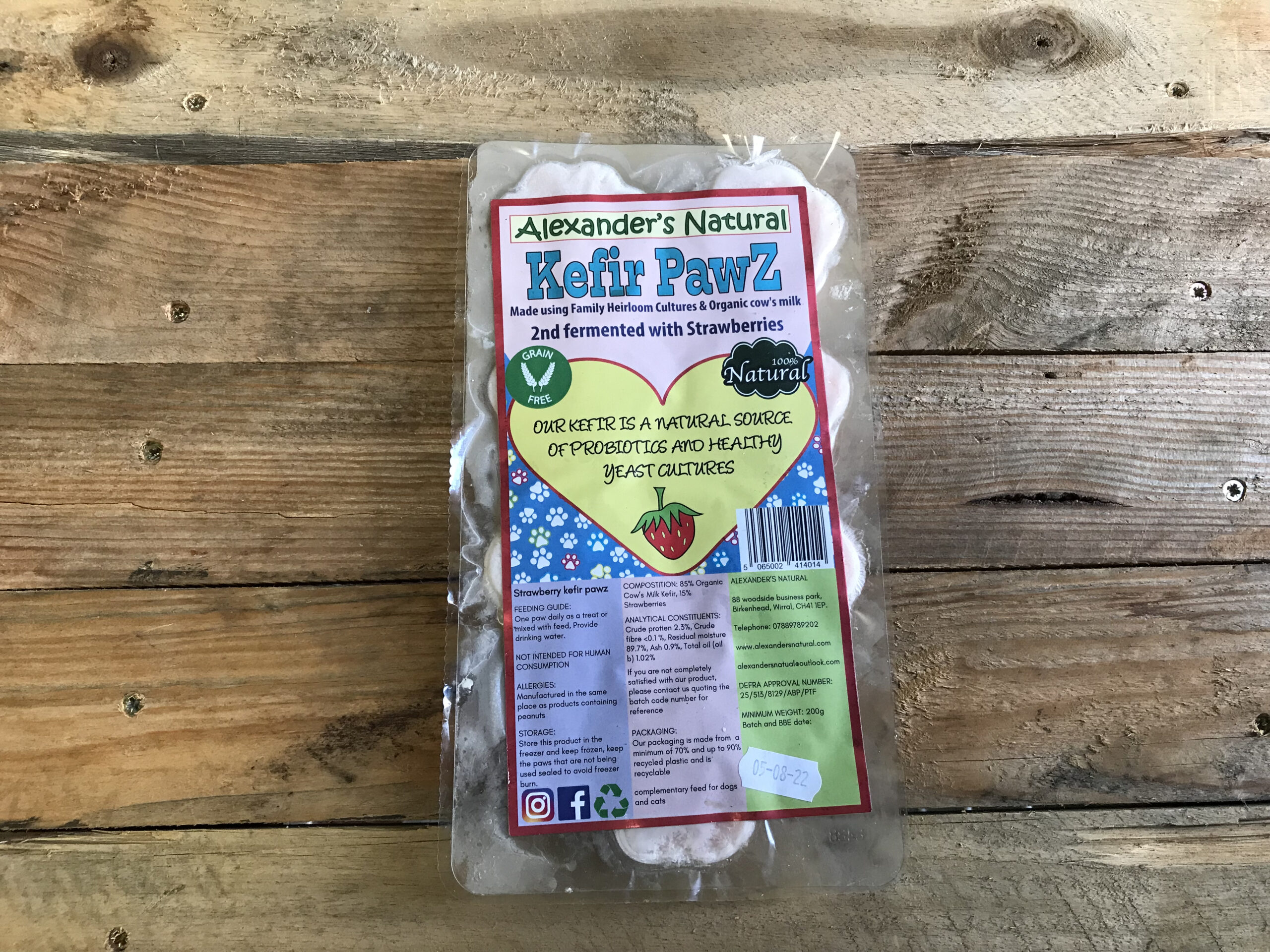 Alexander Naturals Strawberry Kefir Paws – 7pcs